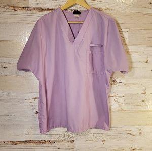 Cherokee lavender scrub top